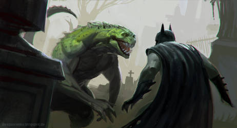 bat croc grave