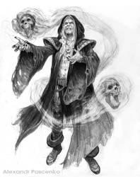 Sarzec -Necromantic Elf by AlexPascenko