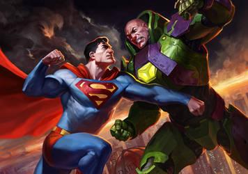 Superman vs Lex by AlexPascenko