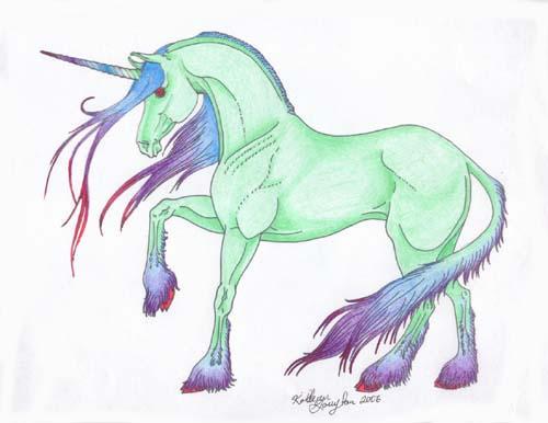 Line Art Unicorn : Line art unicorn color by stonewolf on deviantart