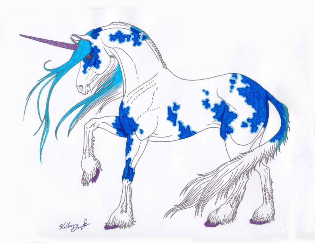 Line Art Unicorn : Line art unicorn color by stonewolf on deviantart