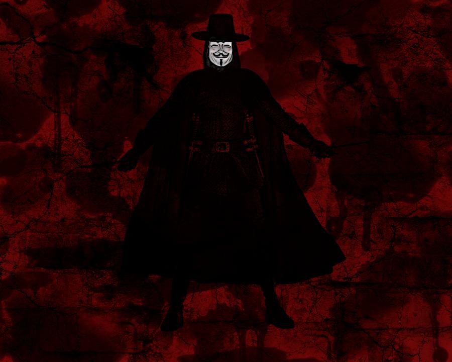 V For Vendetta Wallpaper By StopDropandSlaughter
