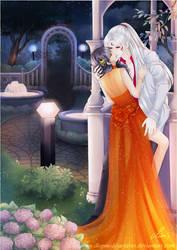 Sesshomaru and Rin - On a Secret Night by ladyshenzuki