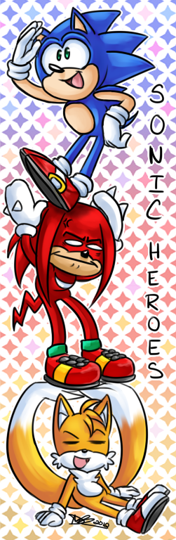 Sonic Heroes Bookmark by ProSonic