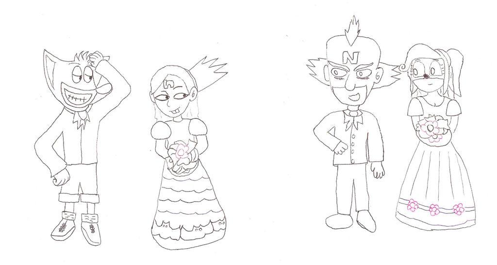 wedding of coco bandicoot and neo cortex by conikiblasu