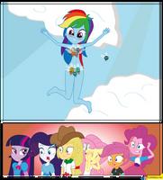 Rainbow Dash and parasprites Equestria Girls by CoNiKiBlaSu-fan