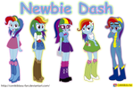 My little Pony - Equestria Girls - Newbie Dash