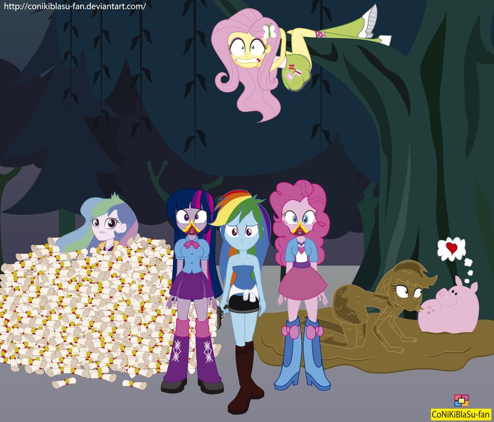 28 Pranks Later - Equestria girls - MLP by CoNiKiBlaSu-fan