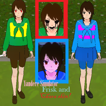 Yandere Simulator Frisk and CHARA SKIN DOWNLOAD!!! by