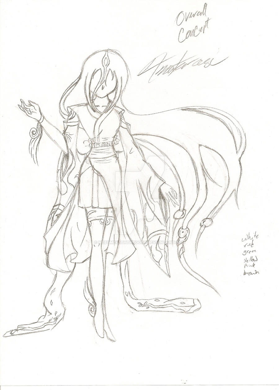 Okami Amaterasu -UNCOLORED- by MeetMeWithThegods