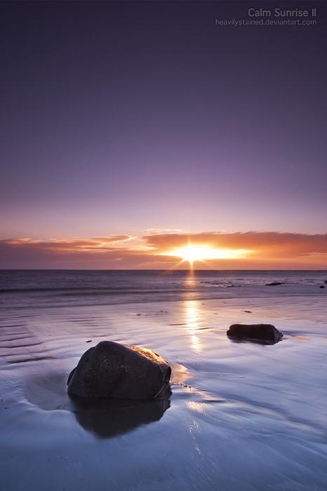 Calm Sunrise II by jamesholephoto