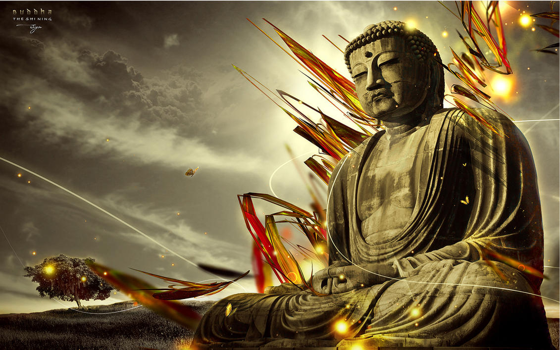 Les 5 agrégats de la conscience selon le Bouddhisme Traditionnel Buddha__The_Shining_by_synthesys