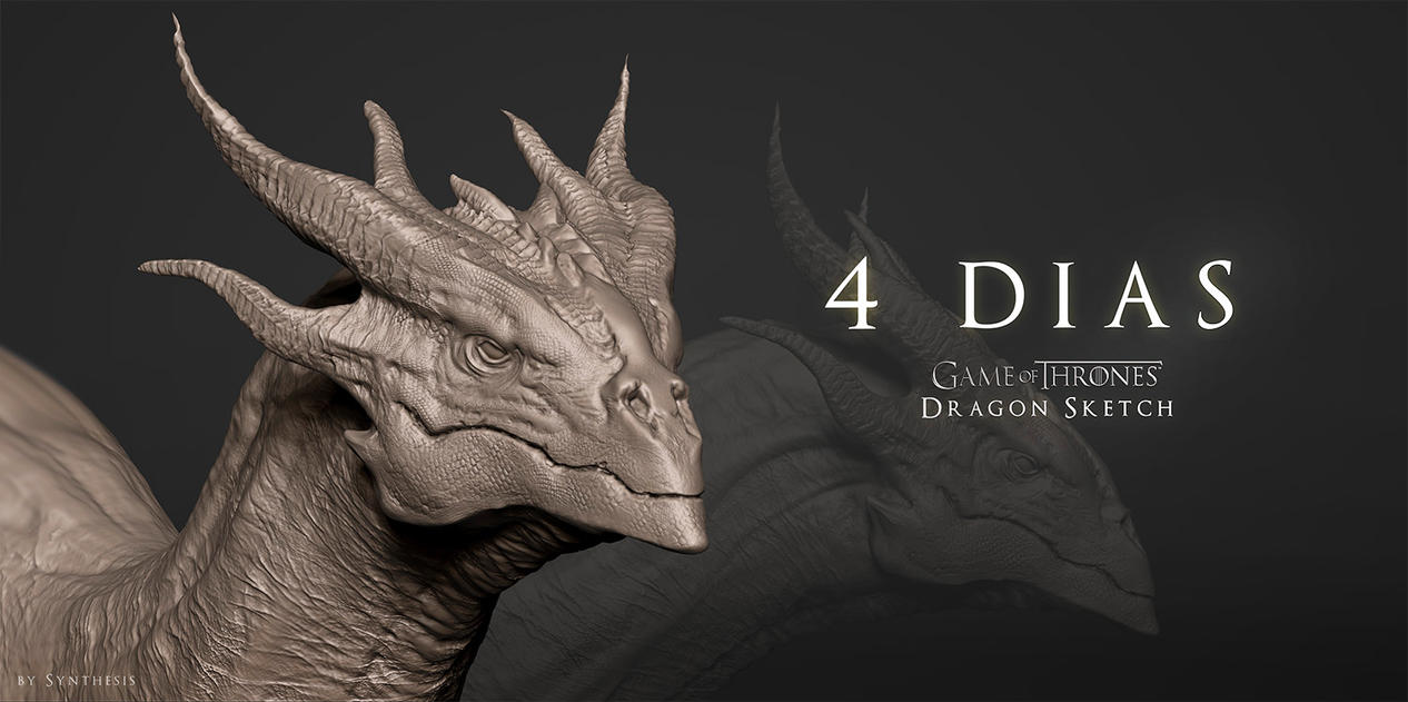 4 Days - Dragon Sketch 1 by synthesys
