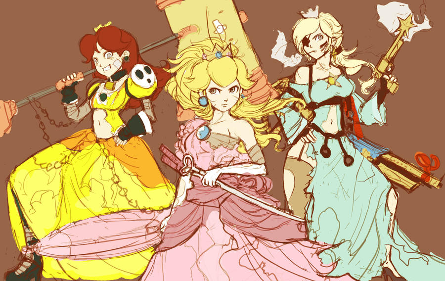 WIP II Torn Princesses by TheJayPhenrix