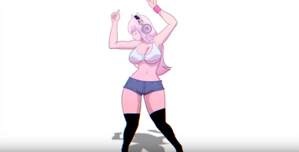 Dancing Sonico - Toon Boom  Quality Test by Jay-Phenrix