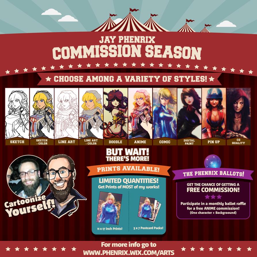 Jay Phenrix - Commission Season 2016 by Jay-Phenrix