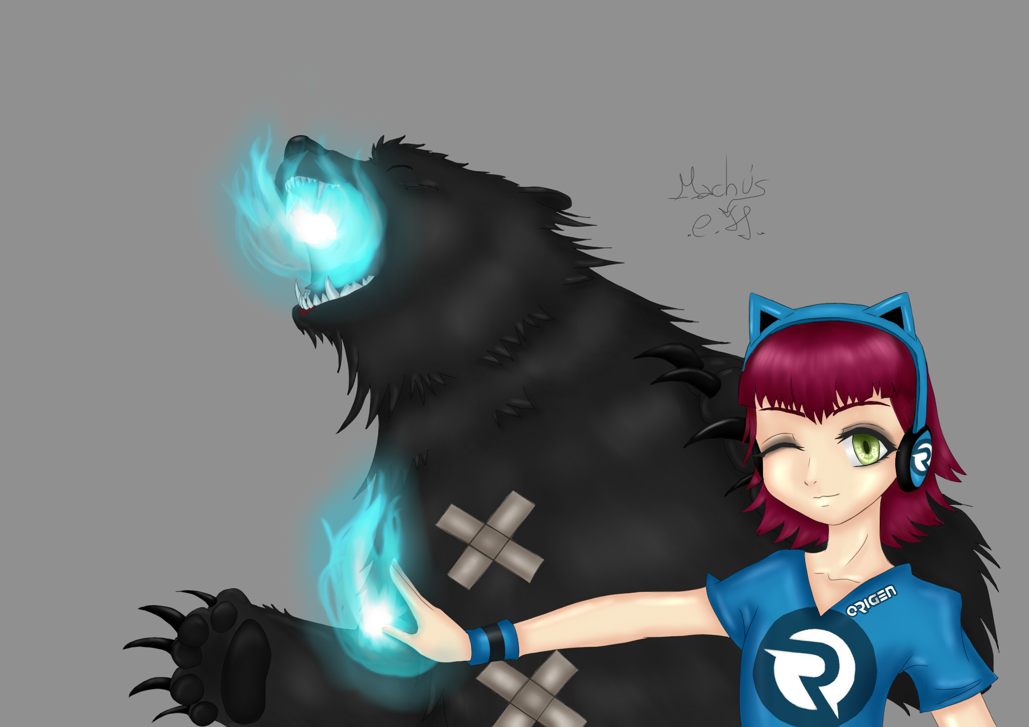 Annie and Tibbers - Origen by Machus-san