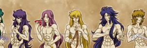 Gold Saints by Arienhchan