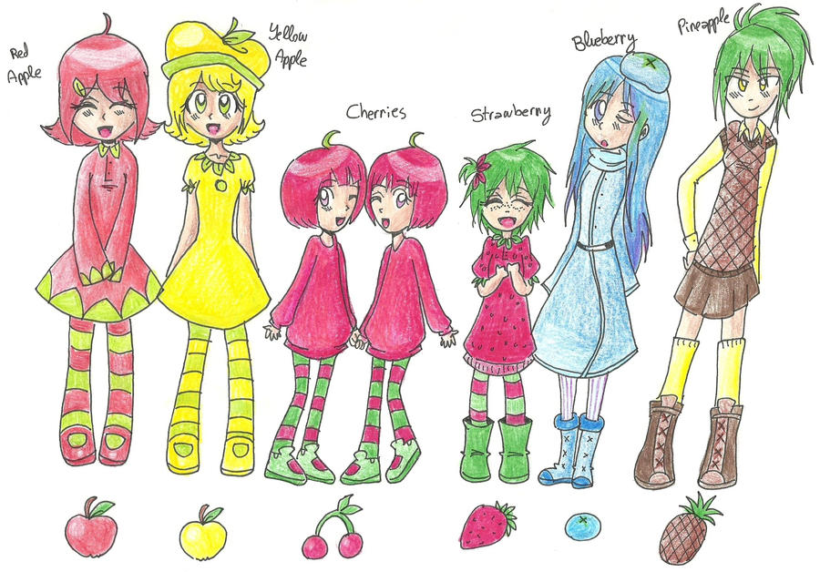 Fruit Gijinkas by Tokkori (part 1) by GGTheOtakuHero