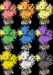 Rainbow Chocobos
