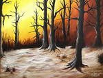 Rustic Winter Woods by 57mannequins