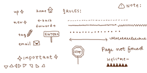 webmaterial - doodle set 1