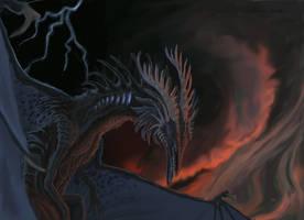 Doom Dragon by Ebonenee