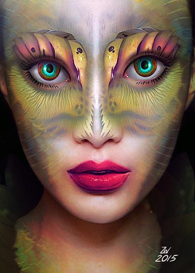 Female Alien Portrait by SelectYourself