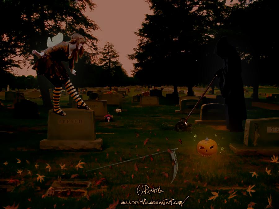 Preparing For Halloween by Rosirika