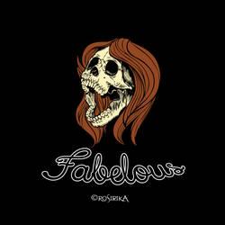 T-Shirt Design Fabelous Skull Girl by Rosirika