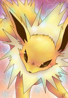 Jolteon, Use Thundershock by blackpersian