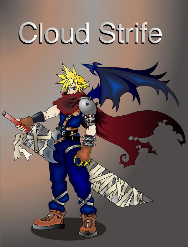 Cloud From KH 'old work' by Artemisthefox