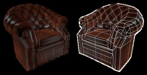 British armchair Render