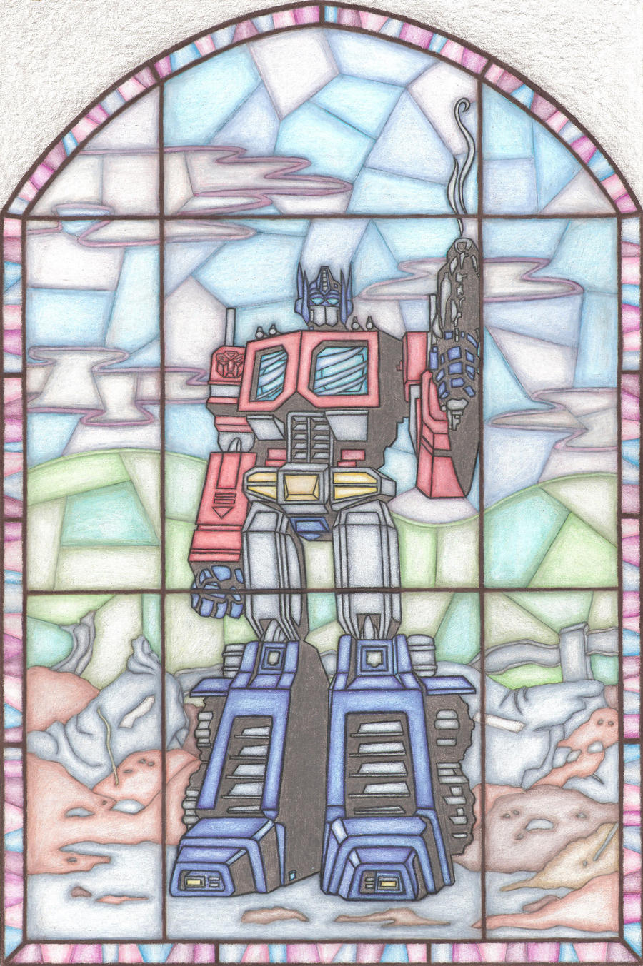 Optimus Prime by chrisjamesart
