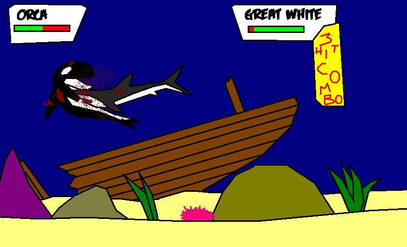 Orca Vs Great White In Battle By Brianzilla2003 On Deviantart