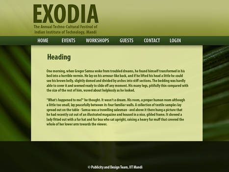 Nature-inspired Web Page Design