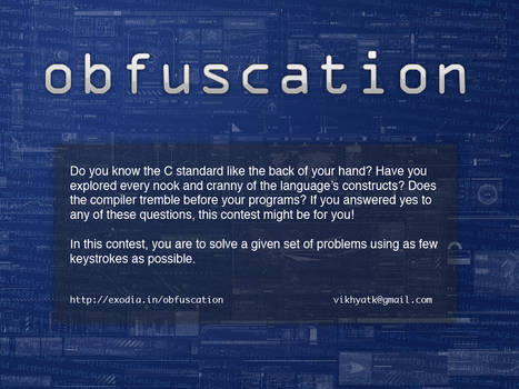 obfuscation poster