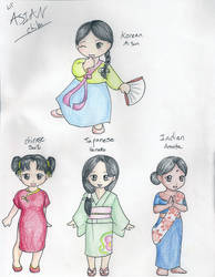 Asian Chibi Girls