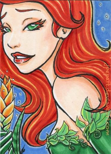 Poison Ivy ACEO by JPepArt
