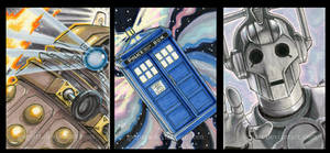 3 Dr Who ACEOs