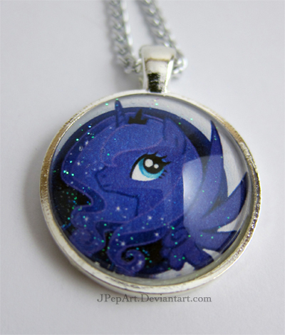 Princess Luna pendant by JPepArt