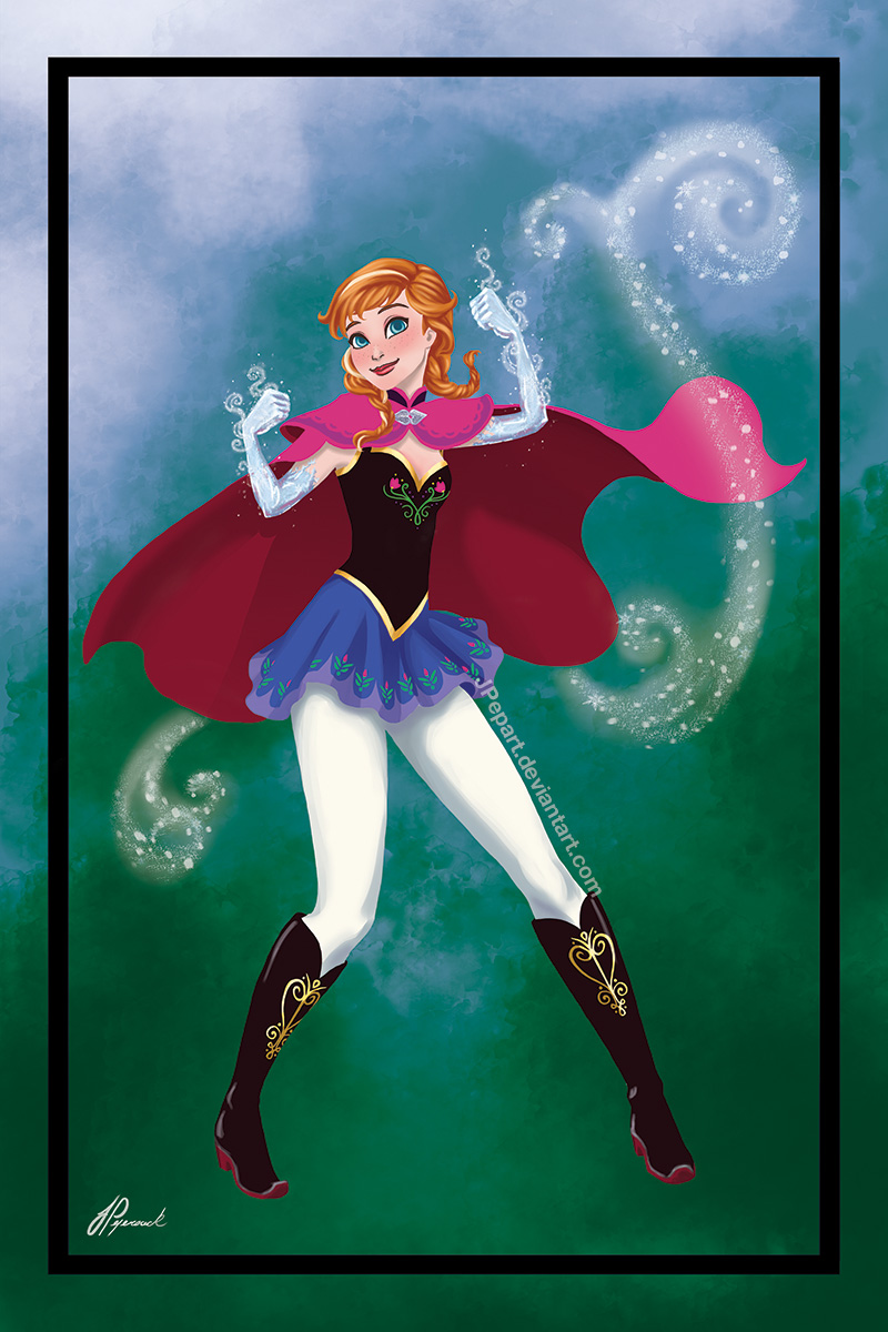Anna superhero mode by JPepArt