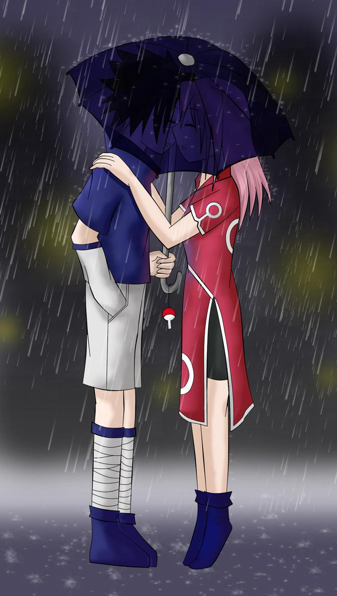 30. Under the Rain - SasuSaku by NightMargin