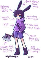 Important bunny anatomy by NightMargin