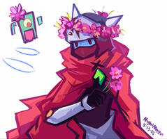 Drifter with flowers