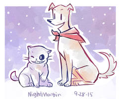 Puppyrus and (no cat pun for sans I'm sorry) by NightMargin