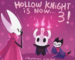 3 years of hollow knight