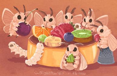 Little bugs' feast