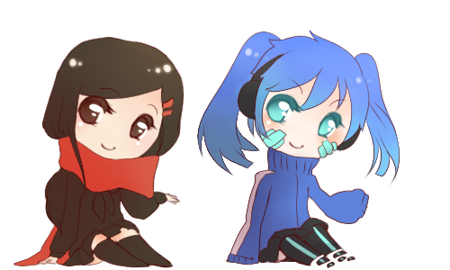 kagerou page doll ayano and ene by calendae on deviantart