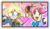 Pokemon Stamp:Clemont and Mika Love